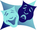 Drama Masks/eps Royalty Free Stock Photos