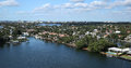 Waterways and skyline of Fort Lauderdale, Florida, USA