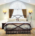 Dramatic Bedroom Interior Royalty Free Stock Photo