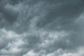 Dramatic black  clouds or storm cloud befor rainy Royalty Free Stock Photo