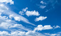 Dramatic blue sky with clouds beautiful Stock Image