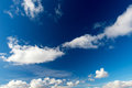 Dramatic blue sky with white clouds Stock Image