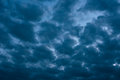 Dramatic cloudscape in sunset Royalty Free Stock Photo