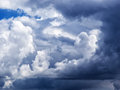 Dramatic cumulus clouds create an abstract design Royalty Free Stock Image