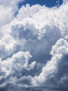 Dramatic cumulus clouds Royalty Free Stock Photo