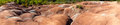 Dramatic erosion at Cheltenham Badlands Stock Photo