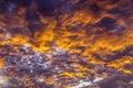 Dramatic Fiery Sky