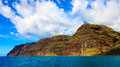 Dramatic na pali coastline section of the majestic napali coast in kauai hawaii islands Royalty Free Stock Image