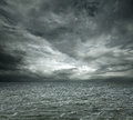 Dramatic ocean background with copy space Royalty Free Stock Photography