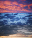 Dramatic sky collection during sunset Royalty Free Stock Photos