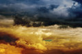 Dramatic sky at sunset Royalty Free Stock Photo