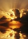 Dramatic sundown scene Royalty Free Stock Photo