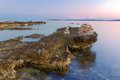 Dramatic sunrise over the sea medulin istria peninsula croatia europe adriatic Stock Photo