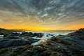 Dramatic sunrise south africa an image of a over the ocean in Stock Photos