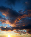 Dramatic Sunset Royalty Free Stock Images
