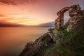 Dramatic sunset at Cape Kaliakra, Bulgaria, Europe Royalty Free Stock Photo