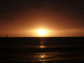 Dramatic Sunset over Pacific Ocean near Waikiki Royalty Free Stock Photo