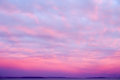 Dramatic Sunset Sky in Magenta and Pink Royalty Free Stock Photo