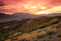 Dramatic sunset in the Wasatch Mountains. Royalty Free Stock Photo