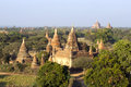 Dramatic temples bagan myanmar Stock Images