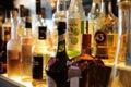 Drank in de bar. liqueur in the bar. Royalty Free Stock Photo