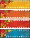 Drapeau d'automne d'automne Photo stock
