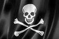 Drapeau de pirate jolly roger Image libre de droits