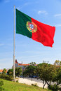 Drapeau portugais énorme Photo stock