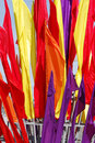 Drapeaux multicolores Photo stock