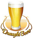 Draught beer label Royalty Free Stock Images