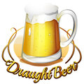 A draught beer label Royalty Free Stock Image