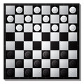 Draughts board daughts illustration eps layered vector Stock Image
