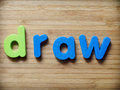 Draw or drawing art concept Stock Photography