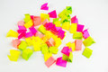 Draw lots small colorful paper pieces cut for randomly drawing Royalty Free Stock Image