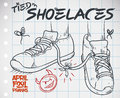 Draw with Tied Shoelaces Prank for April Fools` Day, Vector Illustration