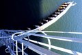 Drawbridge ladder in intercoastal in South Florida Royalty Free Stock Photo