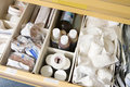 Drawer of medical supplies Royalty Free Stock Photo