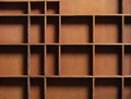 Drawer wooden compartments empty Stock Image