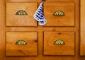 Drawers four for storing clothes table Stock Image