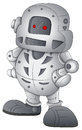 Drawing art of cartoon robot character vector illustration Royalty Free Stock Photos