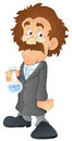 Drawing art of cartoon scientist character in lab vector illustration Royalty Free Stock Photos