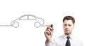 Drawing car Royalty Free Stock Photo