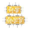 drawing circuit board electronic componet Royalty Free Stock Photo
