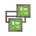drawing circuit board technical system pc Royalty Free Stock Photo