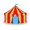 Drawing circus tent Royalty Free Stock Photography