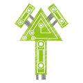 drawing computer circuit arrow electronic component Royalty Free Stock Photo