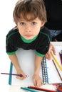 Drawing and crayons Royalty Free Stock Photo