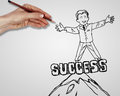 Drawing creativity success business Stock Image
