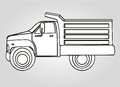 Drawing dump truck Royalty Free Stock Image