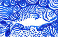 Drawing of a Fish Royalty Free Stock Images